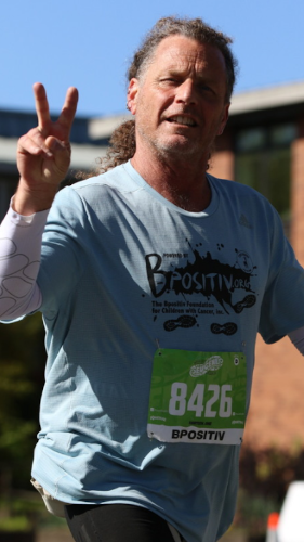 Image of Daniel Pite walking the Eugene Marathon in 2019