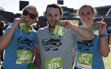 "2019 Eugene Marathon partifipants at finish"" width="