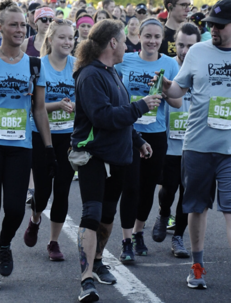 On the course at the 2019 Eugene Marathon