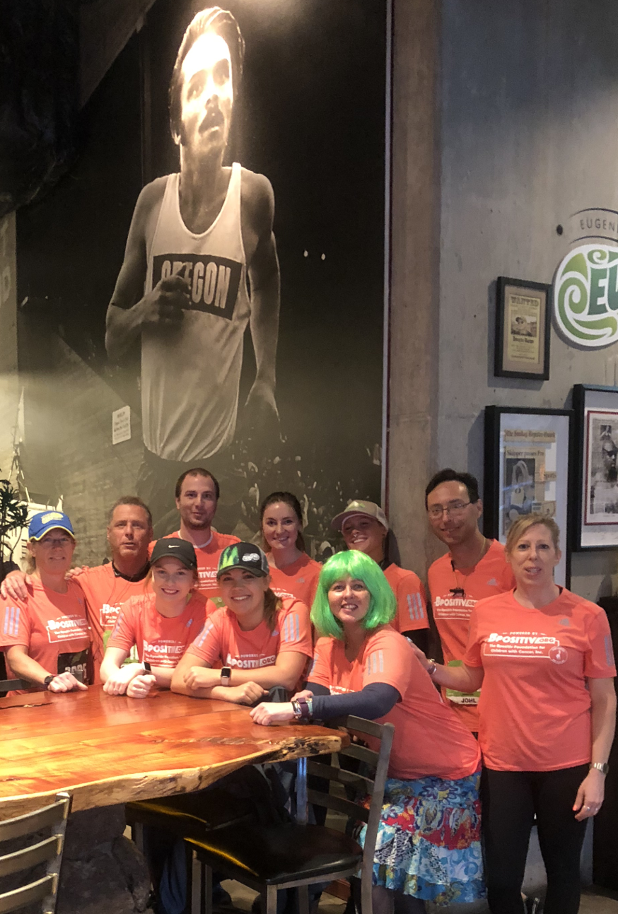 Powered by Bpositiv Eugene Marathon participants at the Wild Duck Cafe